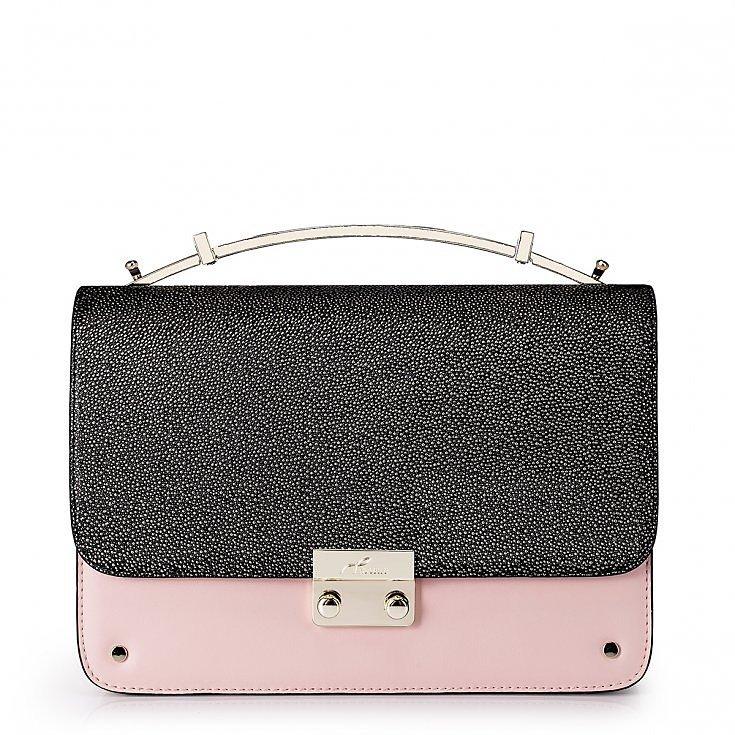 Večerní kožená kabelka Nucelle růžová 61170630