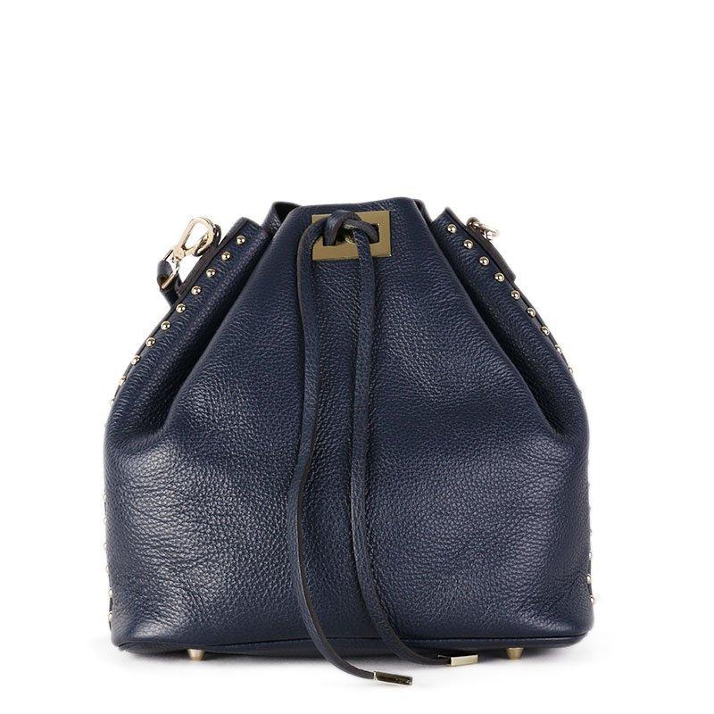 ITALSKÉ Kožená kabelka Italská modrá Jasna
