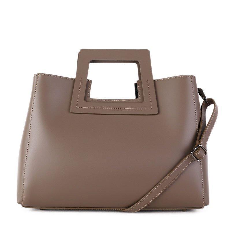 ITALSKÉ Luxusní kožená kabelka Italská hnědá Lena