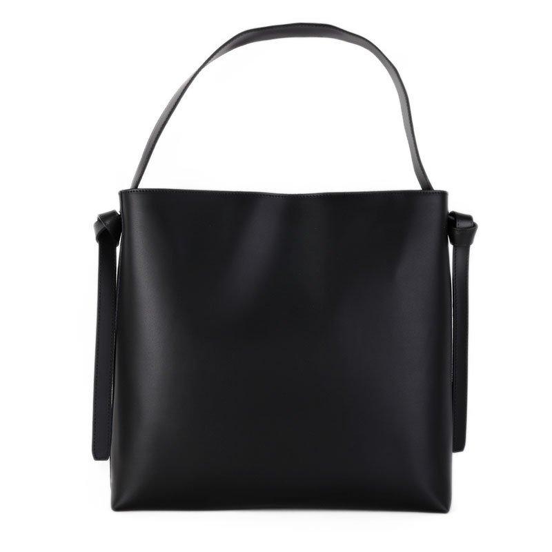 ITALSKÉ Velká kožená kabelka přes rameno Italská černá Sonia