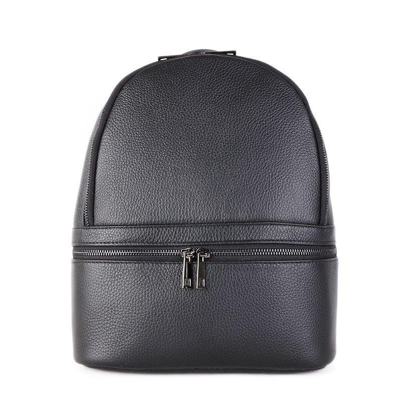 Vera Pelle Kožený batoh do školy černý Natali 10l