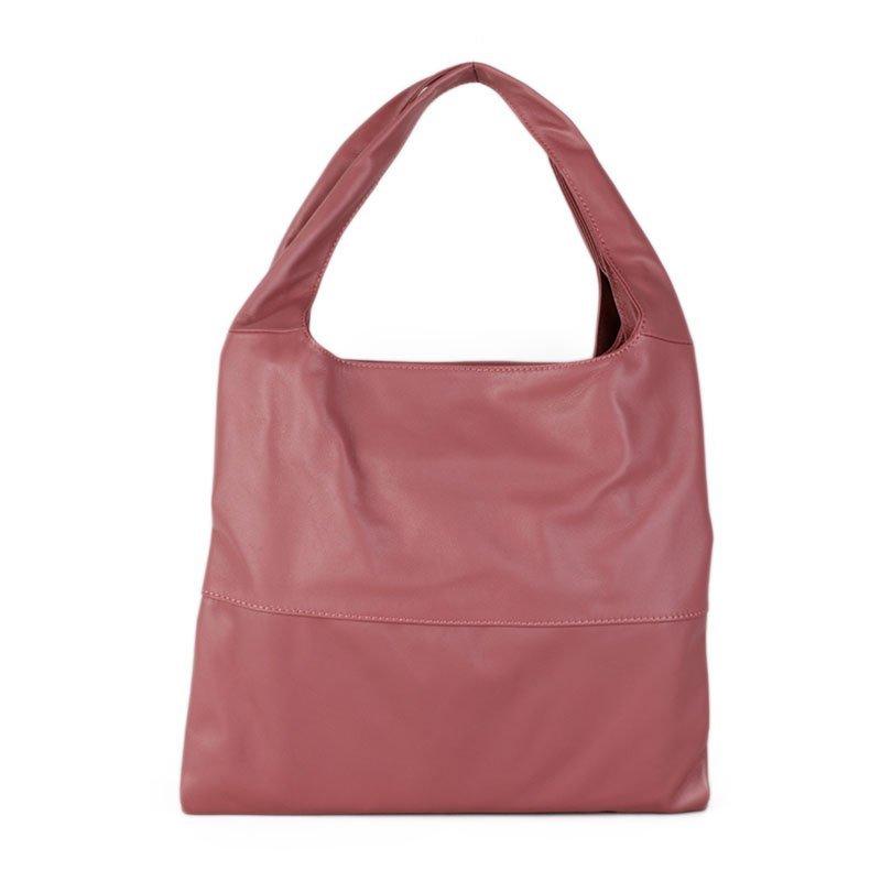 ITALSKÉ Kožená kabelka přes rameno Italská růžová Tosca