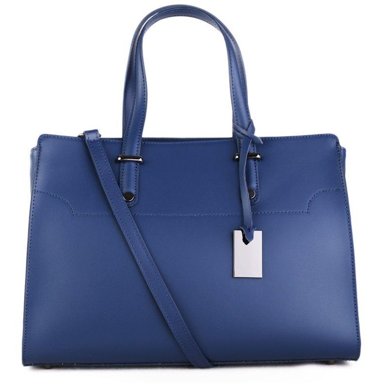 ITALSKÉ Kožená kabelka luxusní Italská modrá Aurora