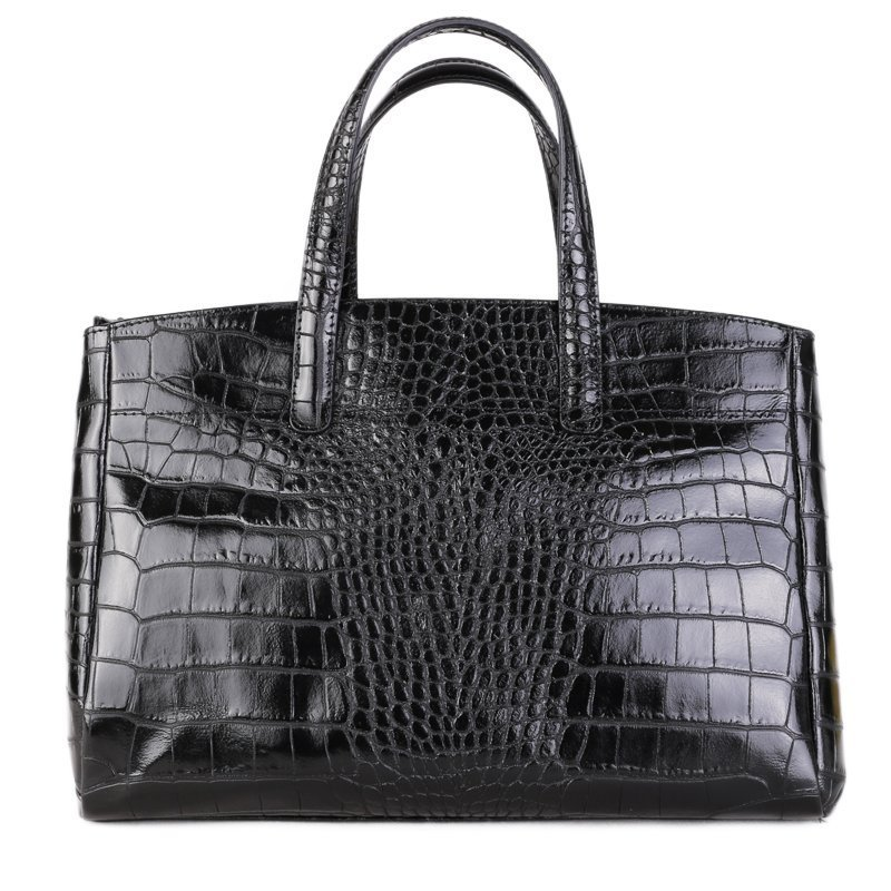 ITALSKÉ Kožená kabelka do ruky z Itálie černá Rachel