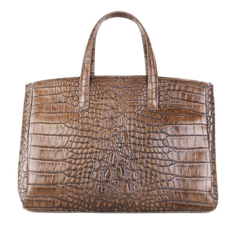 ITALSKÉ Kožená kabelka do ruky Italská taupe Rachel