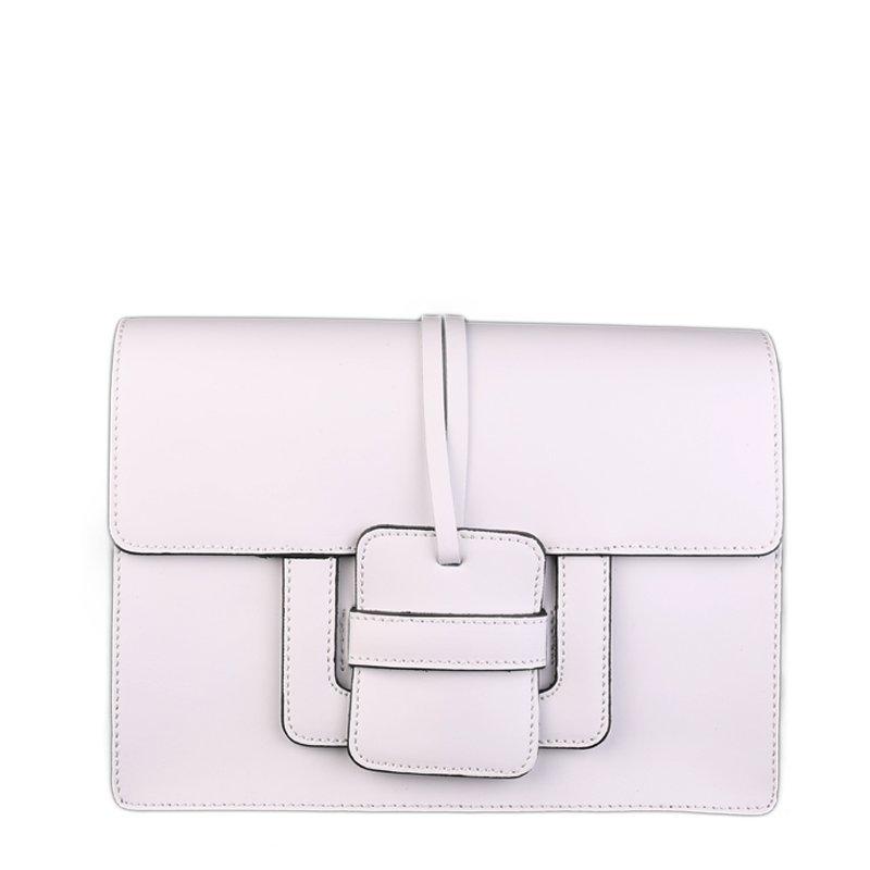 ITALSKÉ Luxusní Italská kožená kabelka Chiara bíla