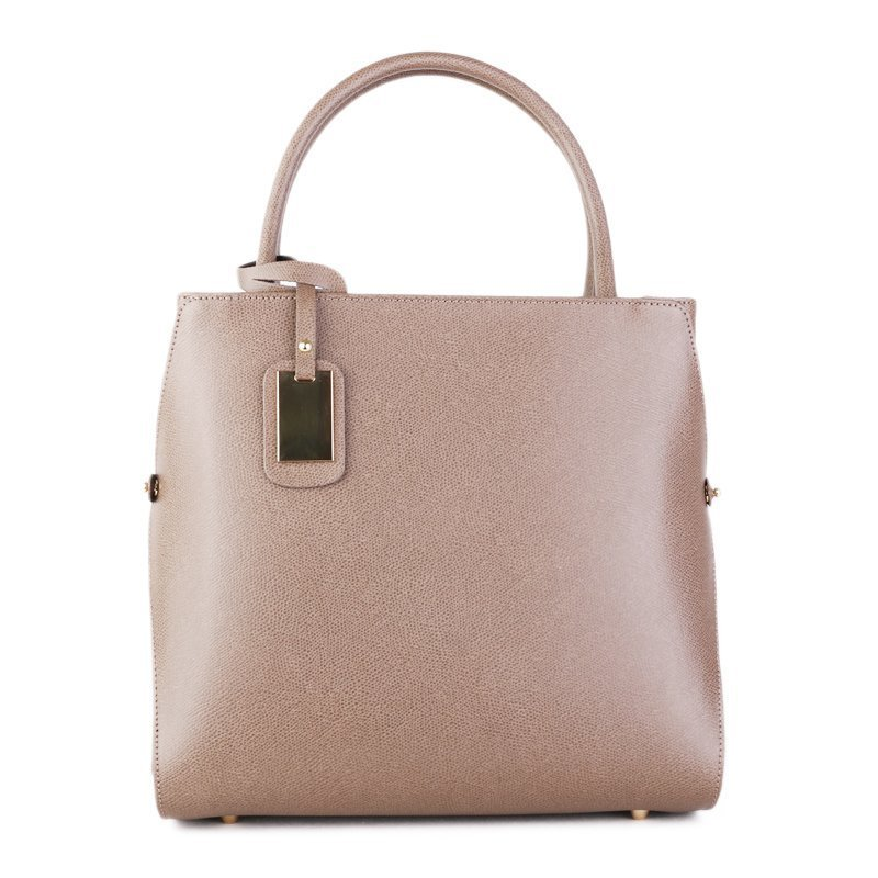 ITALSKÉ Luxusní italská kožená kabelka do ruky Pamela taupe