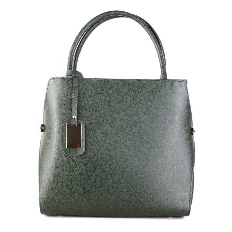 ITALSKÉ Kožená kabelka do ruky Italská zelená Pamela