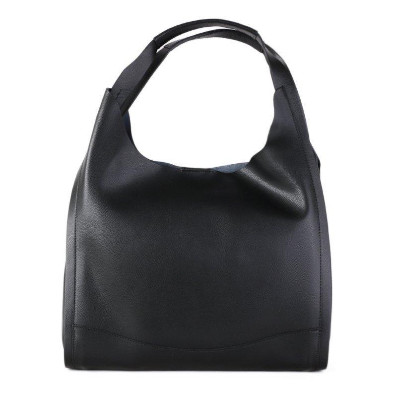 Praktické kožené kabelky přes rameno Italské Siena černé