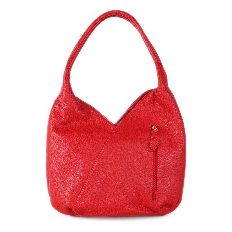 Kožené luxusní kabelky přes rameno Italské červené Cristina