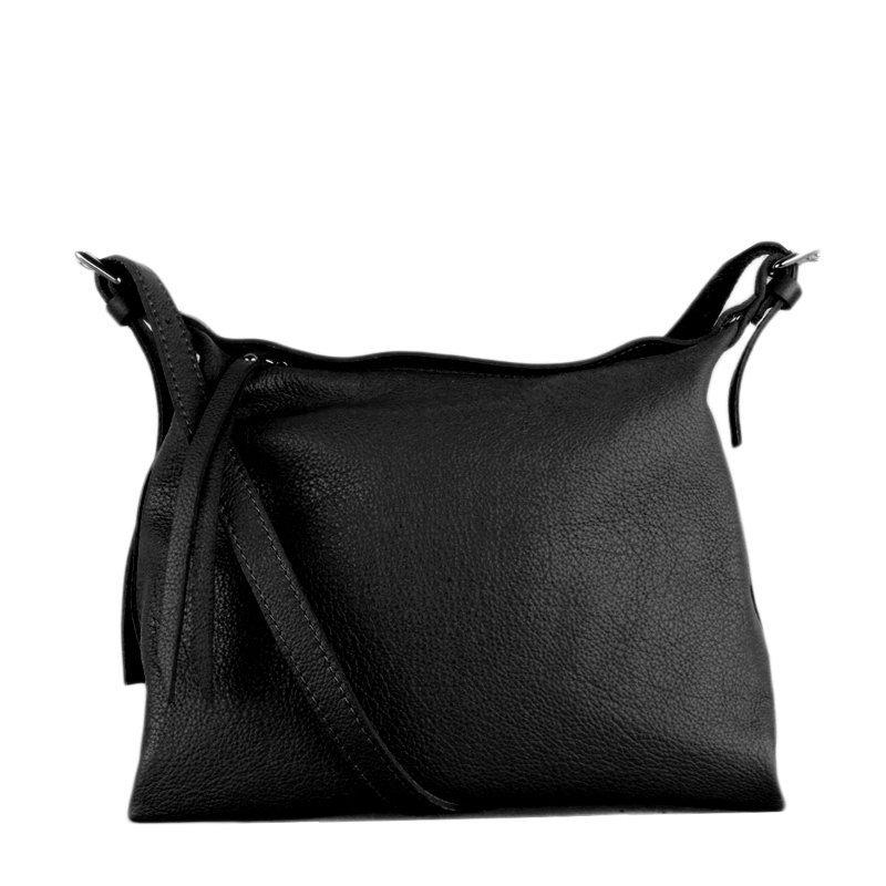 ITALSKÉ Kožená športovní kabelka Vera Pelle z Itálie Celia černá