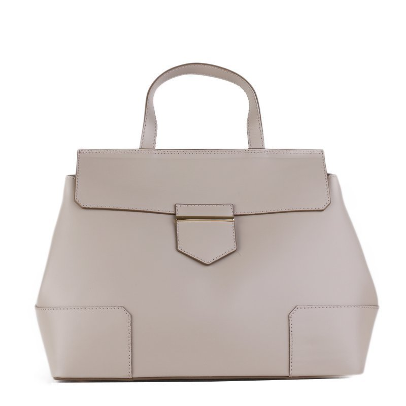 Kožené kabelky do ruky Vera Pelle Dafne šedé