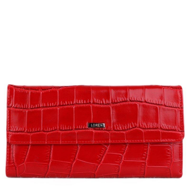 CAVALDI Levná luxusní kožená peněženka Loren červená 74507-CR Red