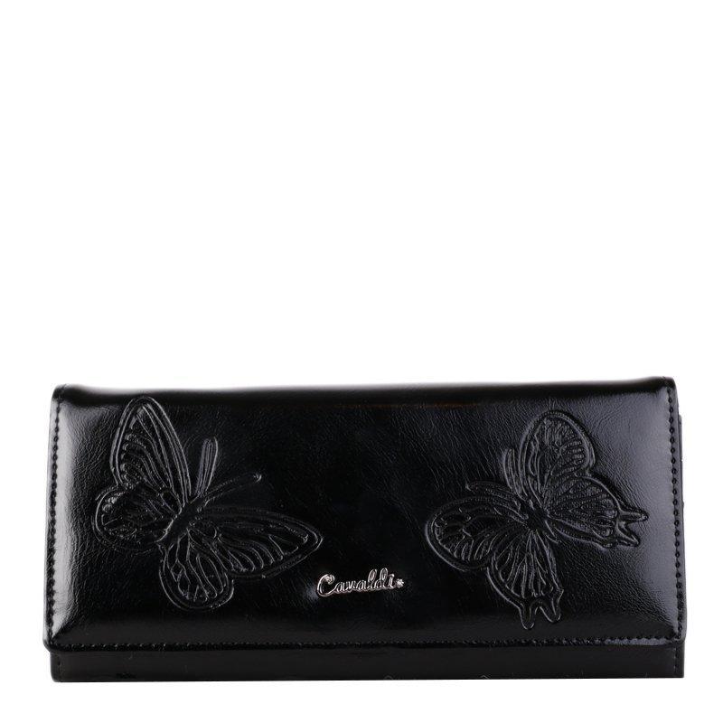 Kožené peněženky černé Cavaldi 8P24-13-01