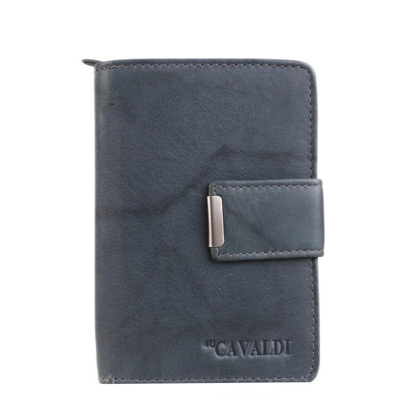 Kožená peněženka šedá Cavaldi N109 Grey