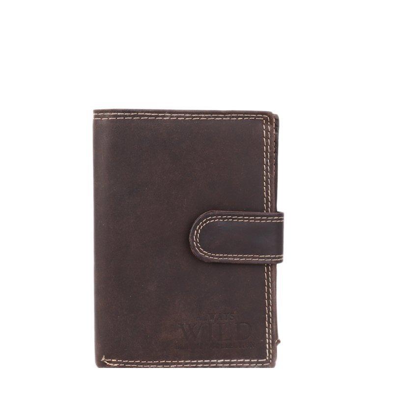 Levná kožená peněženka Cavaldi čokoládová N4L- MHU Brown