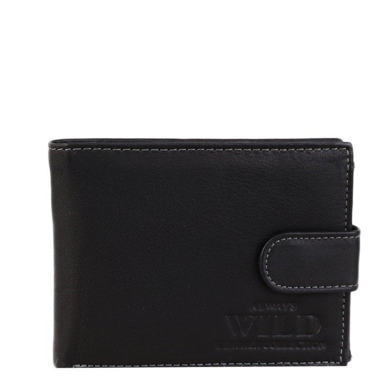 Kožené peněženky velké N992L GU Black