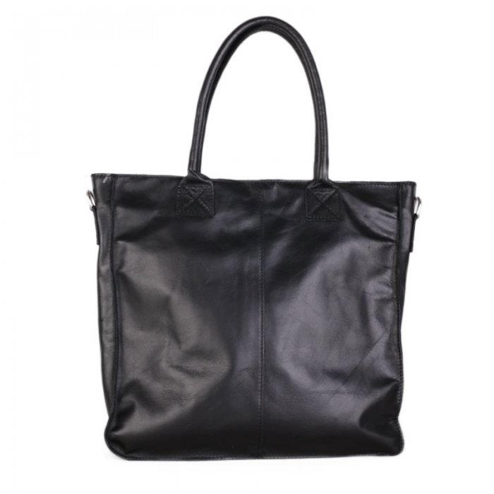 Kožená kabelka shopperka Italská černá Artemisa přední strana e875e66c7d