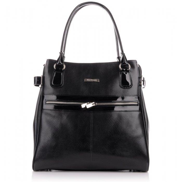 Luxusní kožené kabelky značkové lakované černé Anna 30913 PC01 PL01 ... d69067b596c