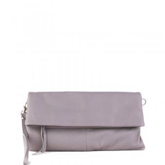 7c764f9da24 Kožená crossbody kabelka z Itálie šedá Violeta přední strana
