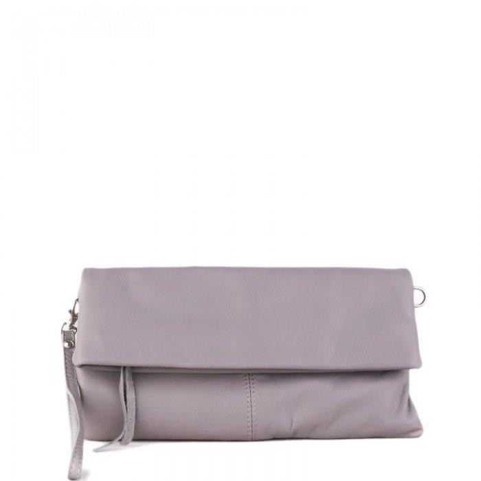 df0f66477d Kožená crossbody kabelka z Itálie šedá Violeta přední strana