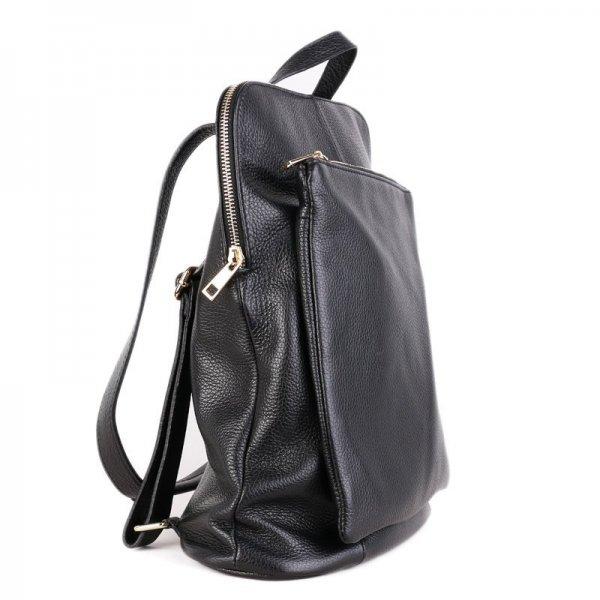 36d7add6fb Italský kožený batoh a kabelka v jednom černý Navaro