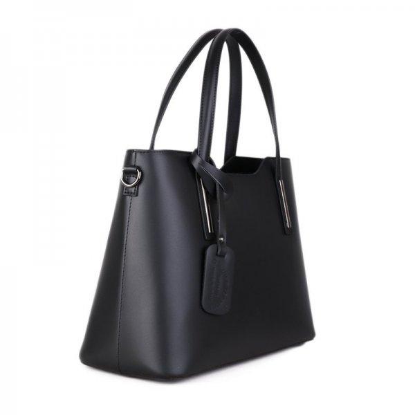 3777531c46 Černé elegantní kožené kabelky do ruky Vera Pelle Carina. Luxusní ...