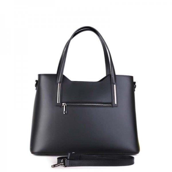 3db4870818 Kožená kabelka Vera Pelle luxusní Italská černá Carina střední ...