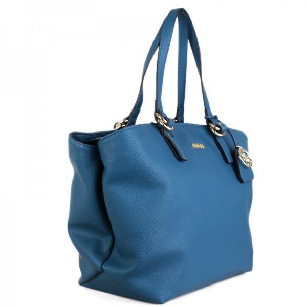 Značkové kabelky Guess shopperky HWTULIP7223EME modré  7630f9586f1