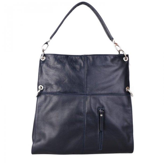 00ef0d789e Luxusní kožené dámské kabelky Vera pelle levné modré Fulvia