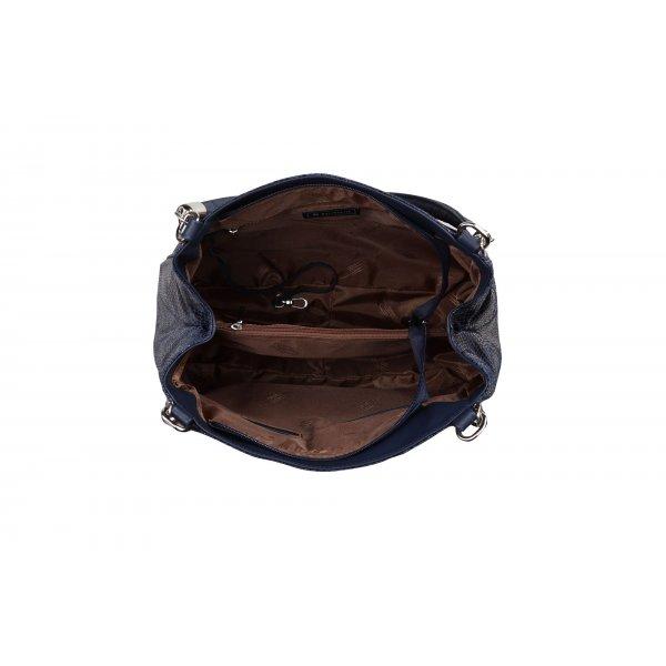 Luxusní kožené kabelky na rameno modré Esmeralda 31215 WT14 JY14 ... 1811e362697