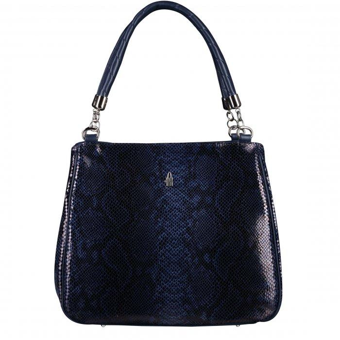 Luxusní modré kožené kabelky Esmeralda s hadím motívem 31215 WT14 JY14 92aa3fd43c9