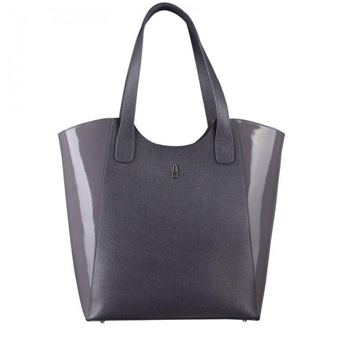 Luxusní šedé kožené shopperky Františka 31707 K EA23 PL23 · Značkové šedé kožené  kabelky na rameno ... 210c4c9924a