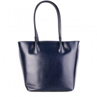60d10a125c9 Kožené kabelky modré levně z Itálie bagalia