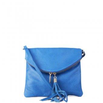 Levné malé kožené crossbody kabelky korzika kr. modrá. ITALSKÉ e52463c64f