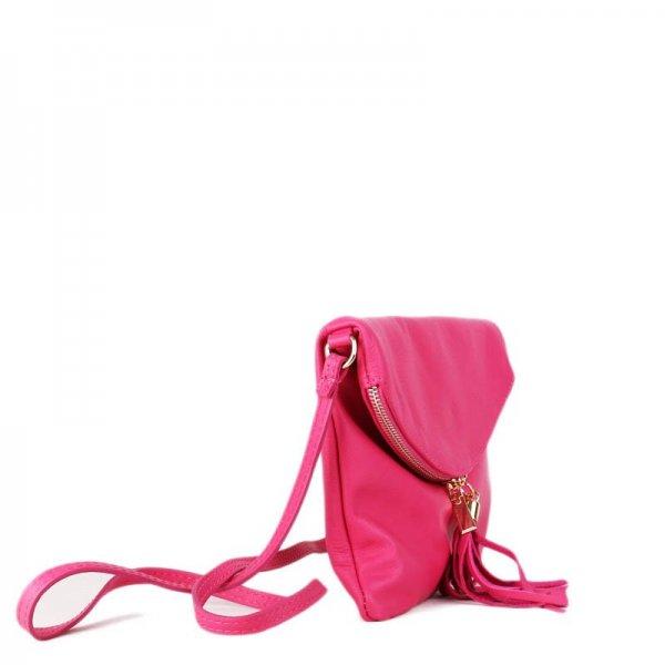 53b8525ea32 elegantní kožené kabelky crossbody silně růžové korzika