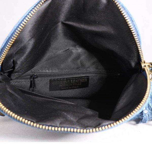 Sportovní kožené kabelky crossbody savina modrá 795592eca6