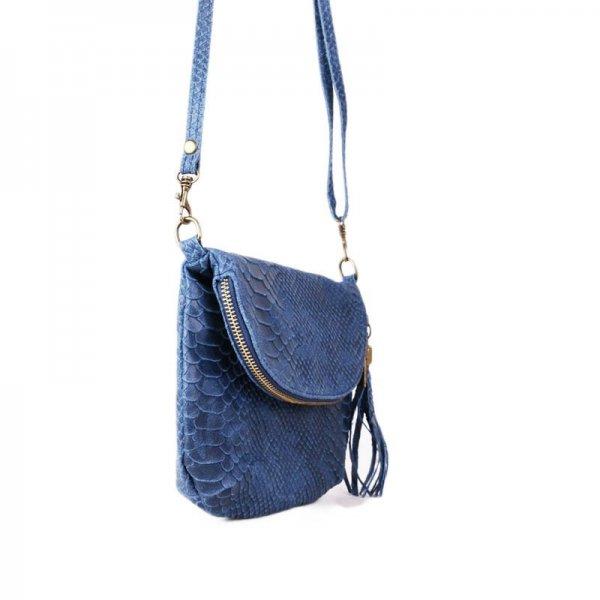 Italské levné kožené kabelky crossbody savina modrá iná 6f38c09193