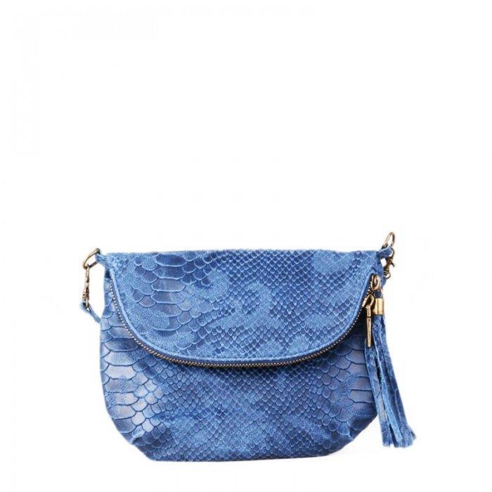 Malé levné kožené crossbody kabelky savina modré 9bcadb8500