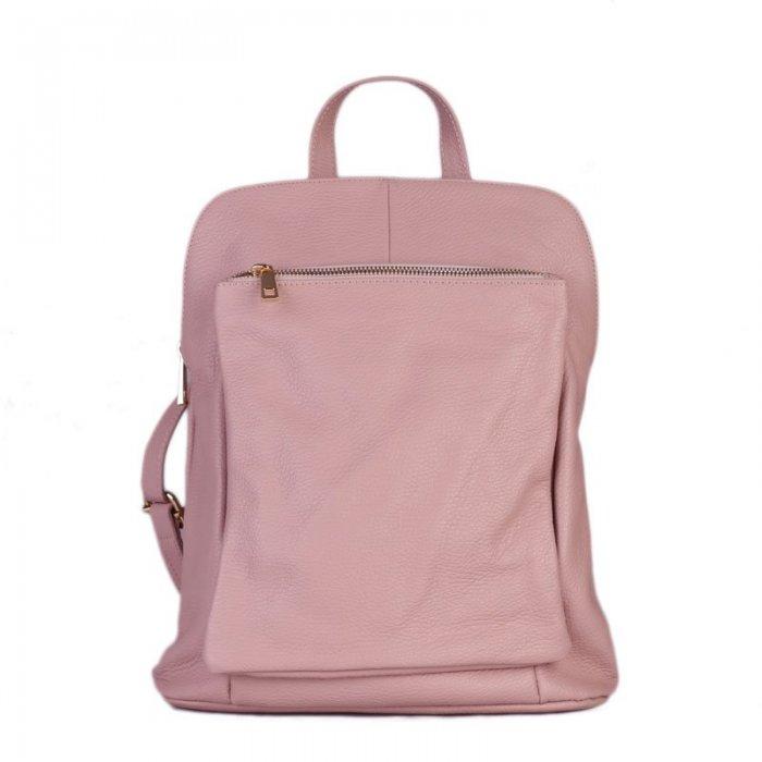 Italský jemně růžový batoh a kabelka v jednom Navaro  cba891d236