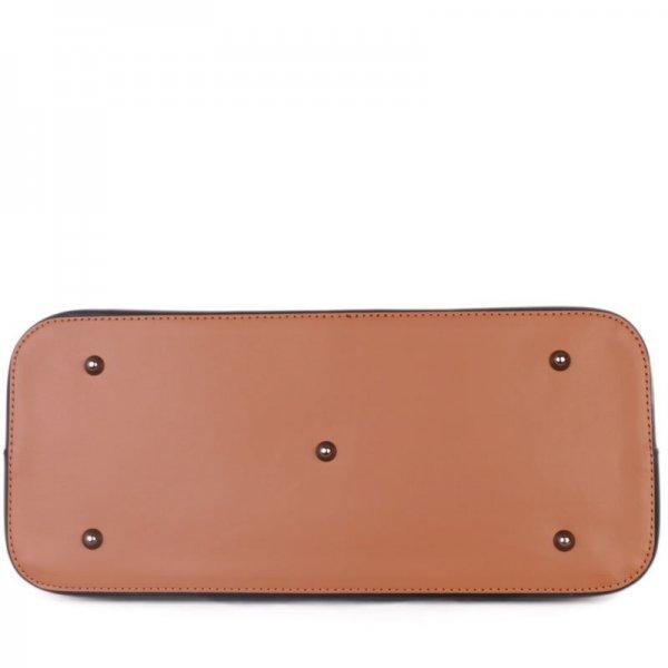 Kvalitní kožené kabelky carina modrá s hnědou velká 3040c6c7728