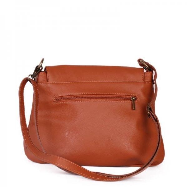 Hnědé Italské kožené kabelky crossbody Angela camel  9082a26ebf1
