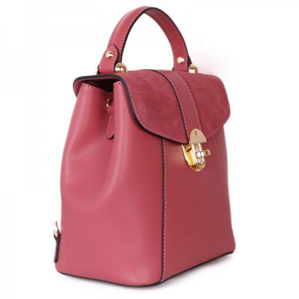 trendové kožené batohy a kabelky v jednom terezia růžový 5fb530364f