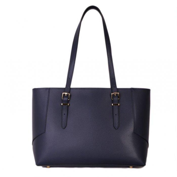 dc8a4af657 Italské kožené kabelky na rameno Estela modré