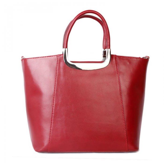 c3832891e9 Luxusní dámské červené kožené kabelky Lubomira