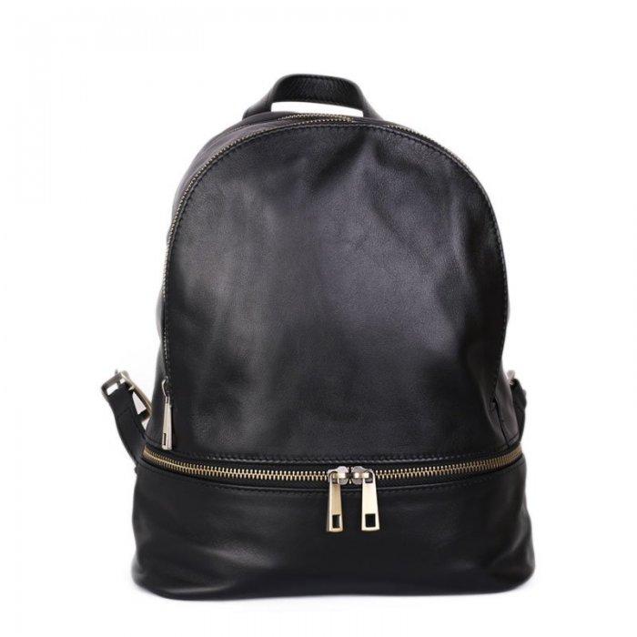 fa02267b7c2 luxusní kožený batoh v černé barvě - ester