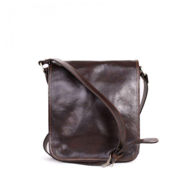 ... Luxusní crossbody pánské kožené tašky na rameno Ricardo čokoládová.  Sleva. pánska kožená taška u Itálie f9a46a0afcc