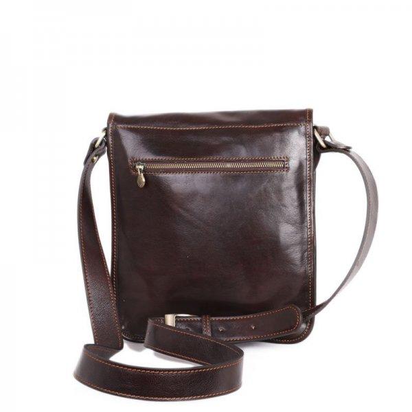 Luxusní crossbody pánské kožené tašky na rameno Ricardo čokoládová ... 891767a1b86