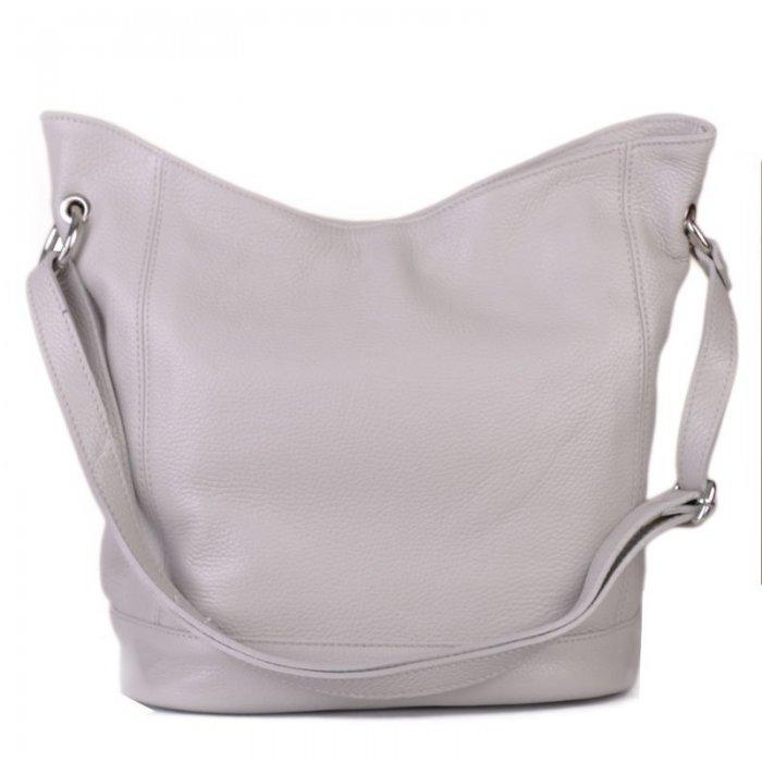 c7aa65b65f Italské kožené kabelky přes rameno šedá Morena