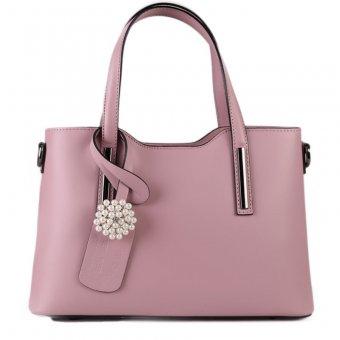 Trendové růžové kožené kabelky s broží… bc0da6d6c1a